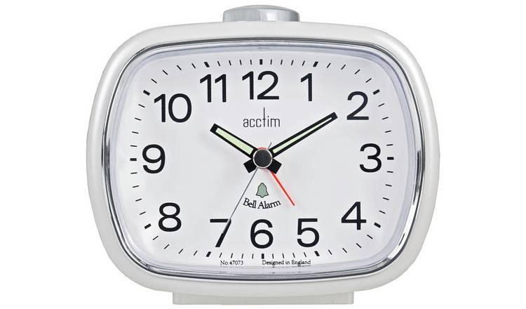 Buy Acctim Camille Pearl Alarm Clock White Clocks Argos