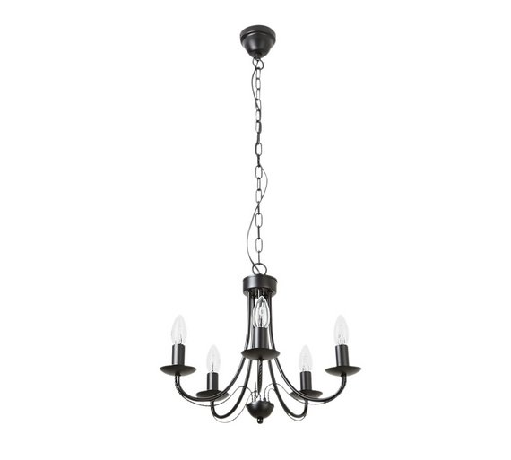 Buy collection twirl 5 light twist chandelier black at argos collection twirl 5 light twist chandelier black aloadofball Image collections