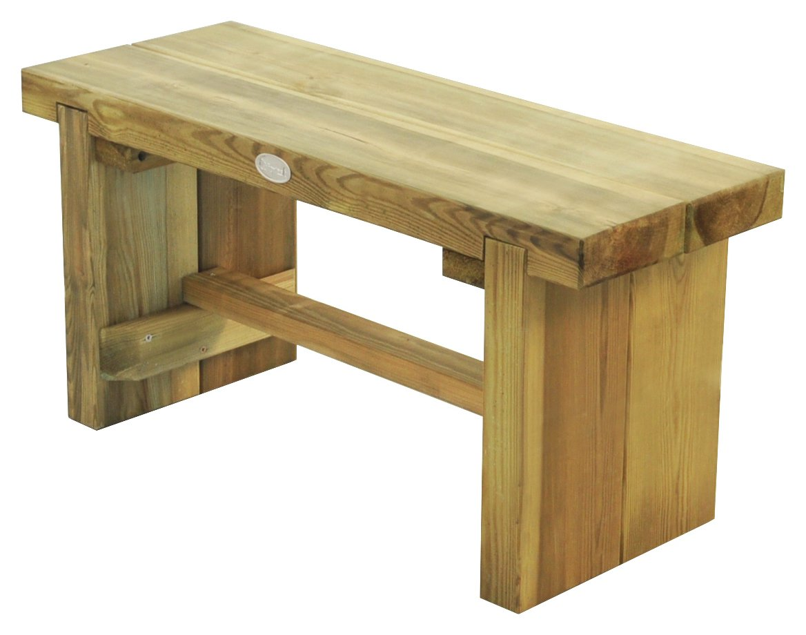 Image of Forest 3ft Double Sleeper Wooden Garden Bench.