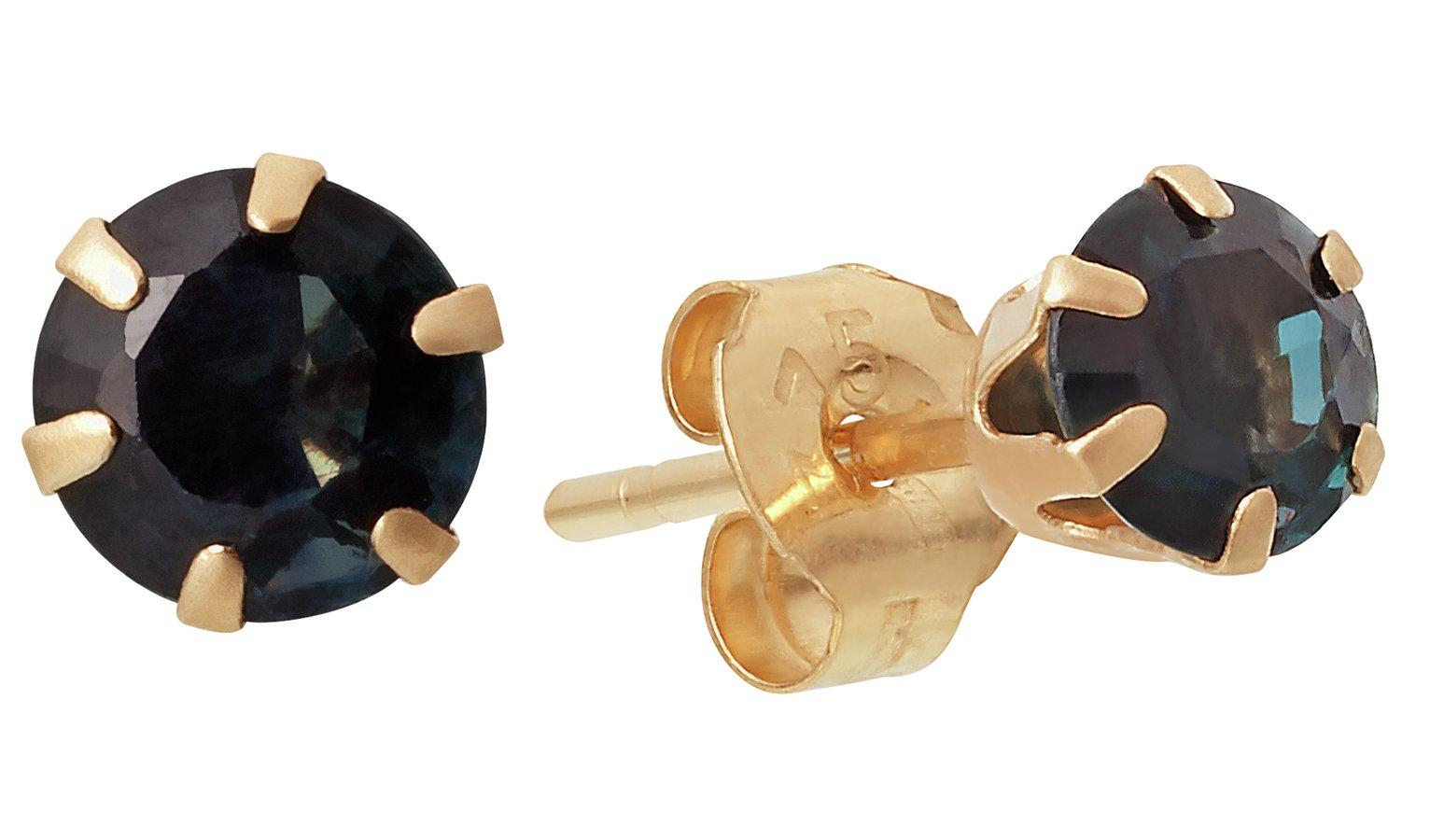 9-carat-gold-black-cubic-zirconia-stud-earrings