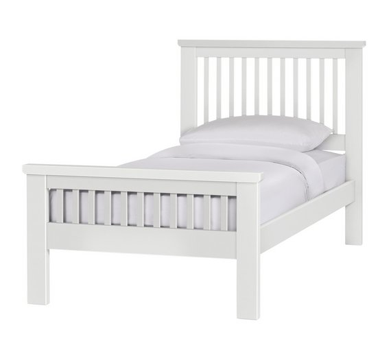 Buy Argos Home Aubrey Single Bed Frame - White  543648f297b3