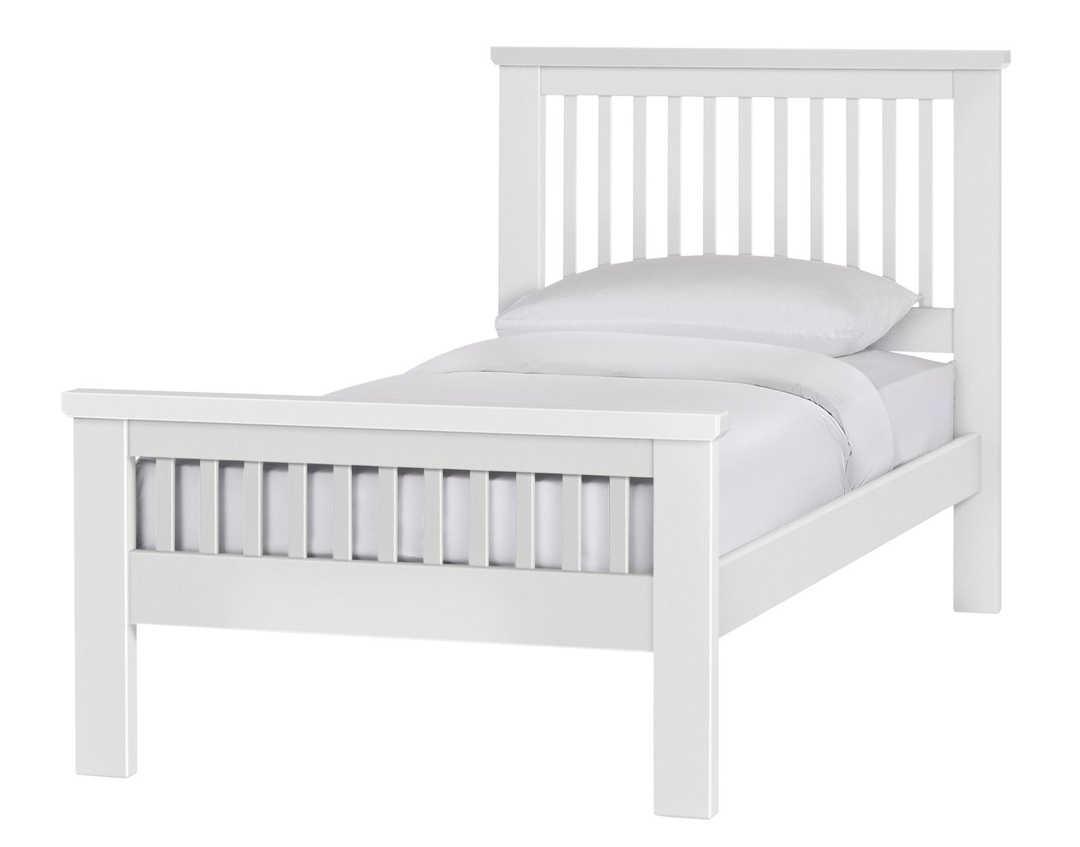 White Bed Frames buy collection aubrey single bed frame - white at argos.co.uk
