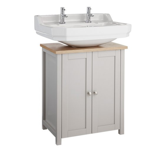Heart of House Livingston Undersink Storage   Grey   Pine. Buy Heart of House Livingston Undersink Storage   Grey   Pine at