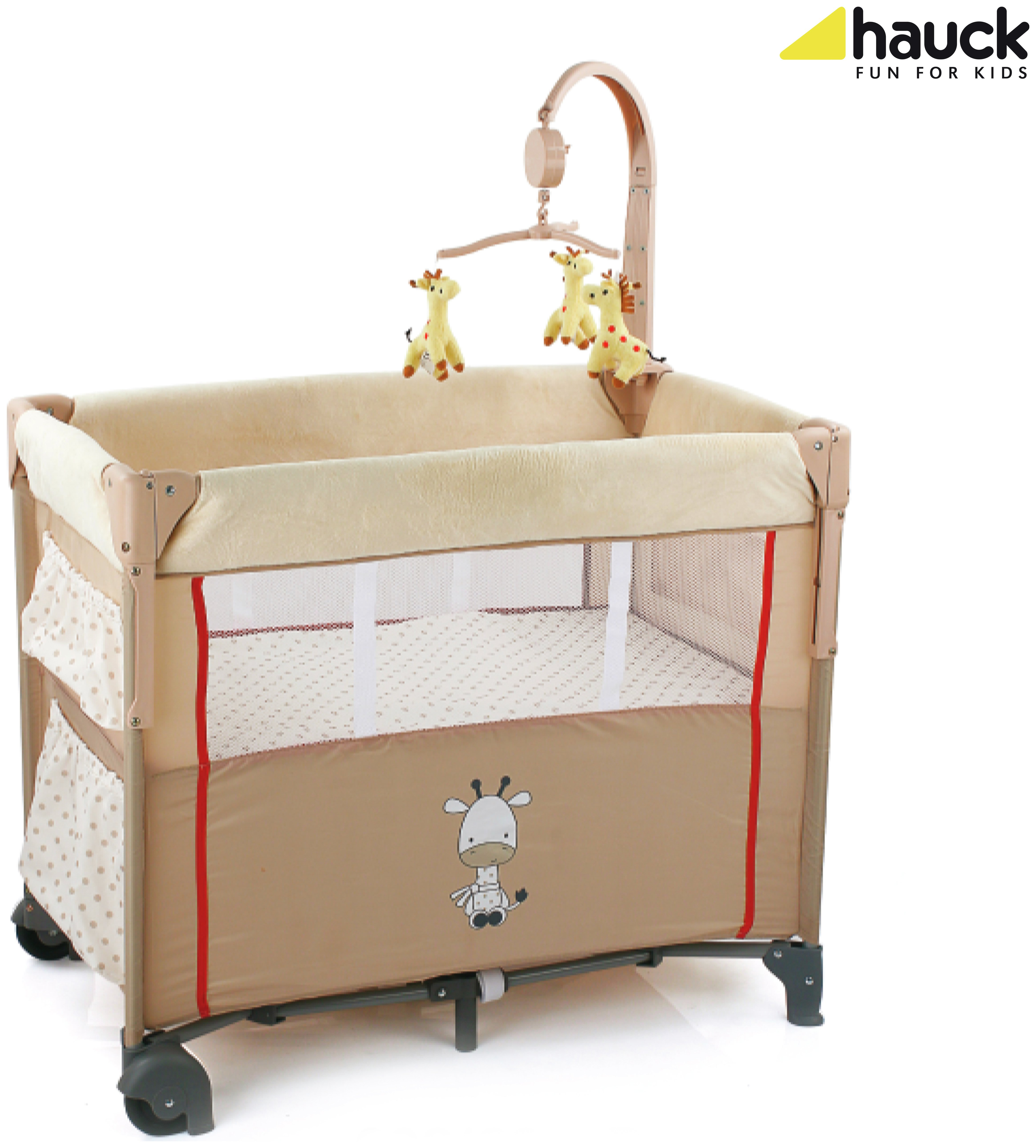 Image of Hauck Dream 'n' Care Centre Travel Cot Giraffe.