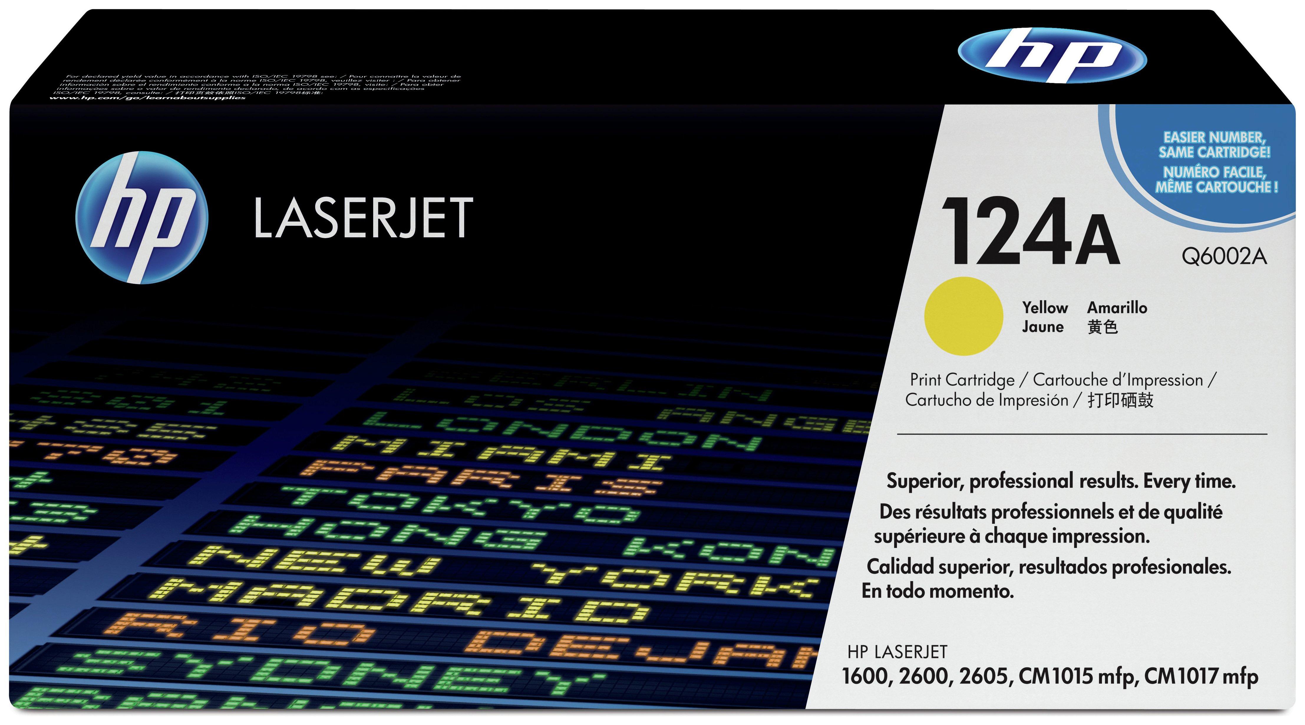 HP - 124A Yellow LaserJet - Toner Cartridge (Q6002A)
