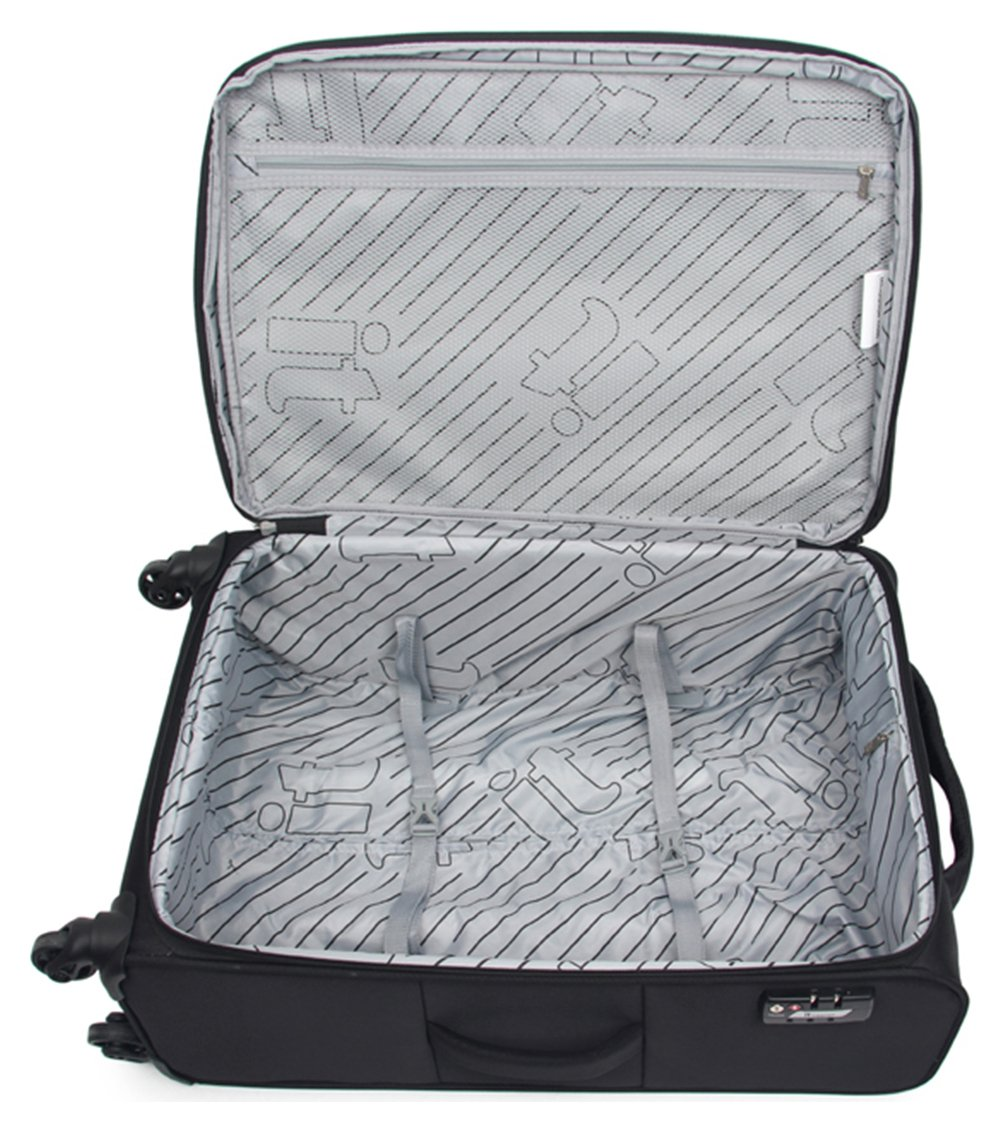IT Luggage Megalite Small Trolley Case - Black. lowest price