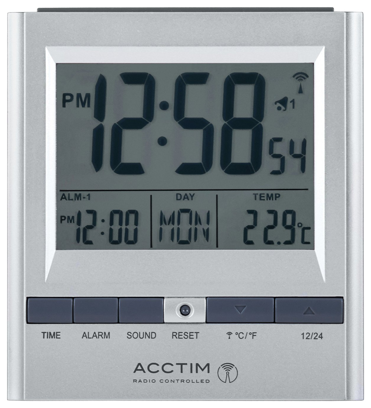 Acctim Chula Radio Controlled Double Alarm Clock