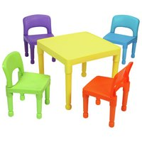Liberty House Multicoloured Nursery Table and 4 Chairs.