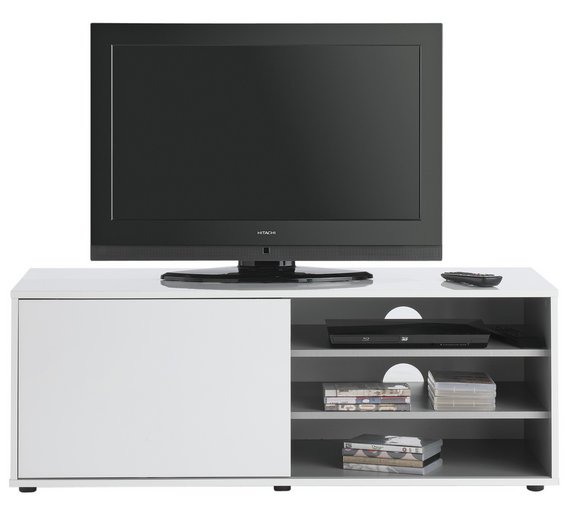Buy Hygena Sliding Door TV Unit White At Your Online Shop For
