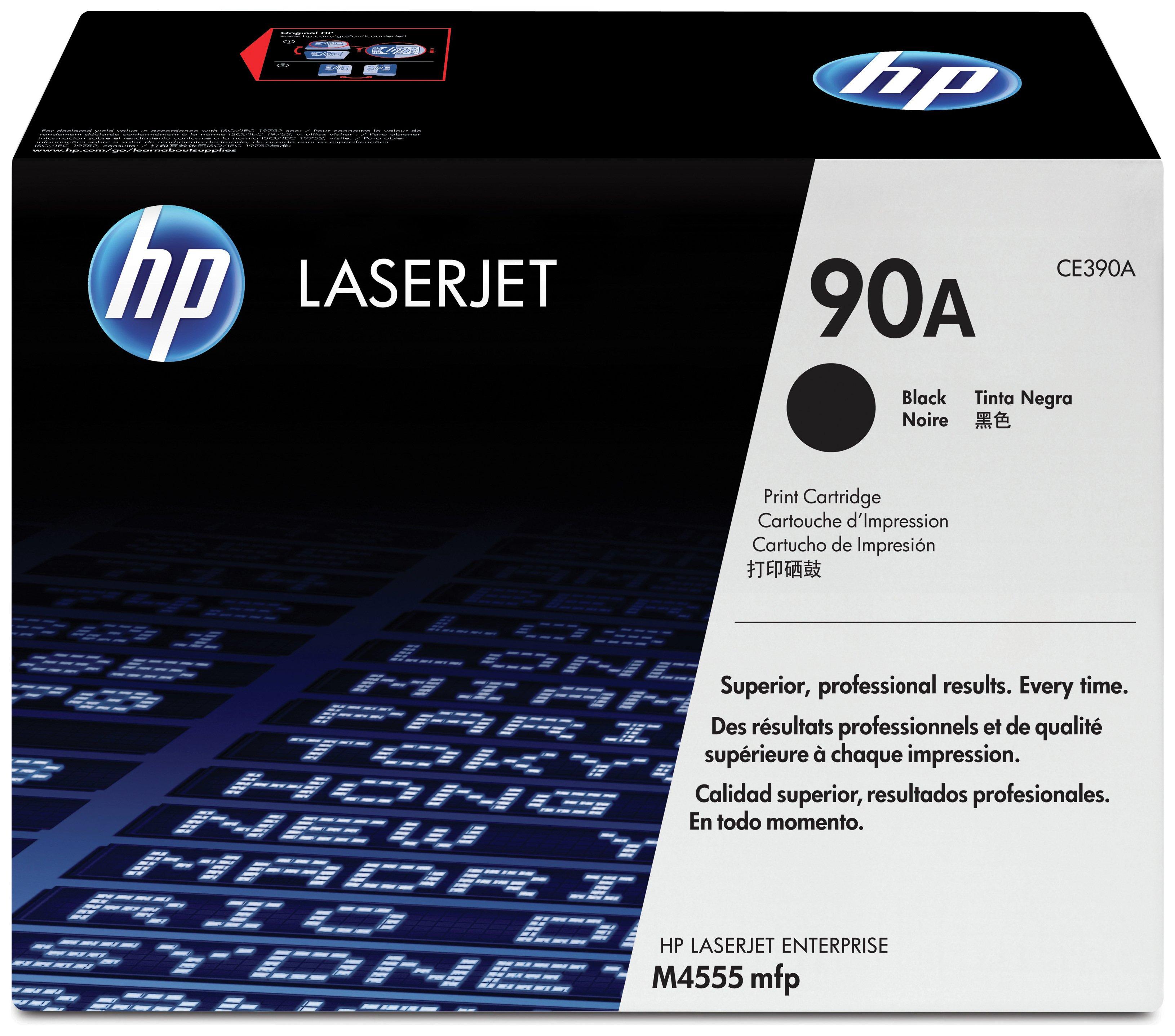 HP - 90A Black LaserJet - Toner Cartridge (CE390A)