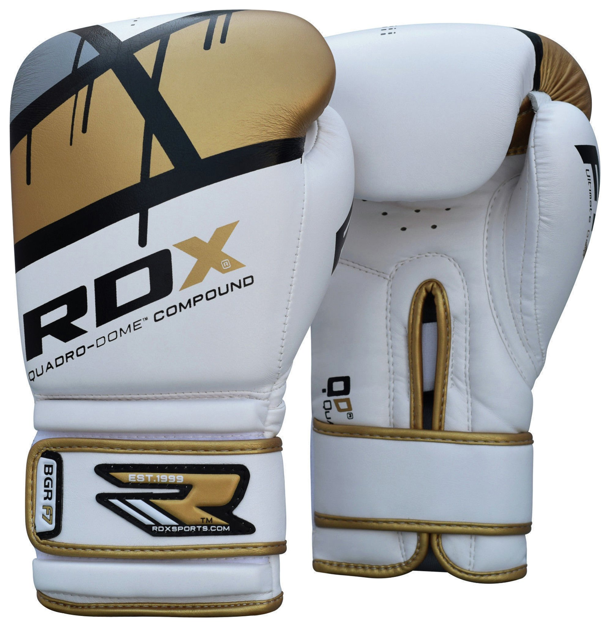 RDX - 16 Oz Leather Boxing Gloves - Gold lowest price