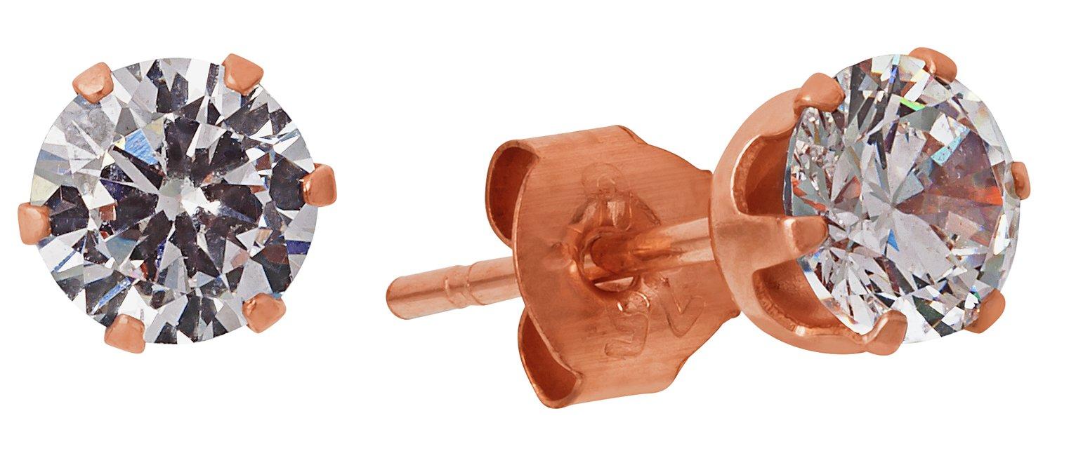 9-carat-rose-gold-cubic-zirconia-stud-earrings