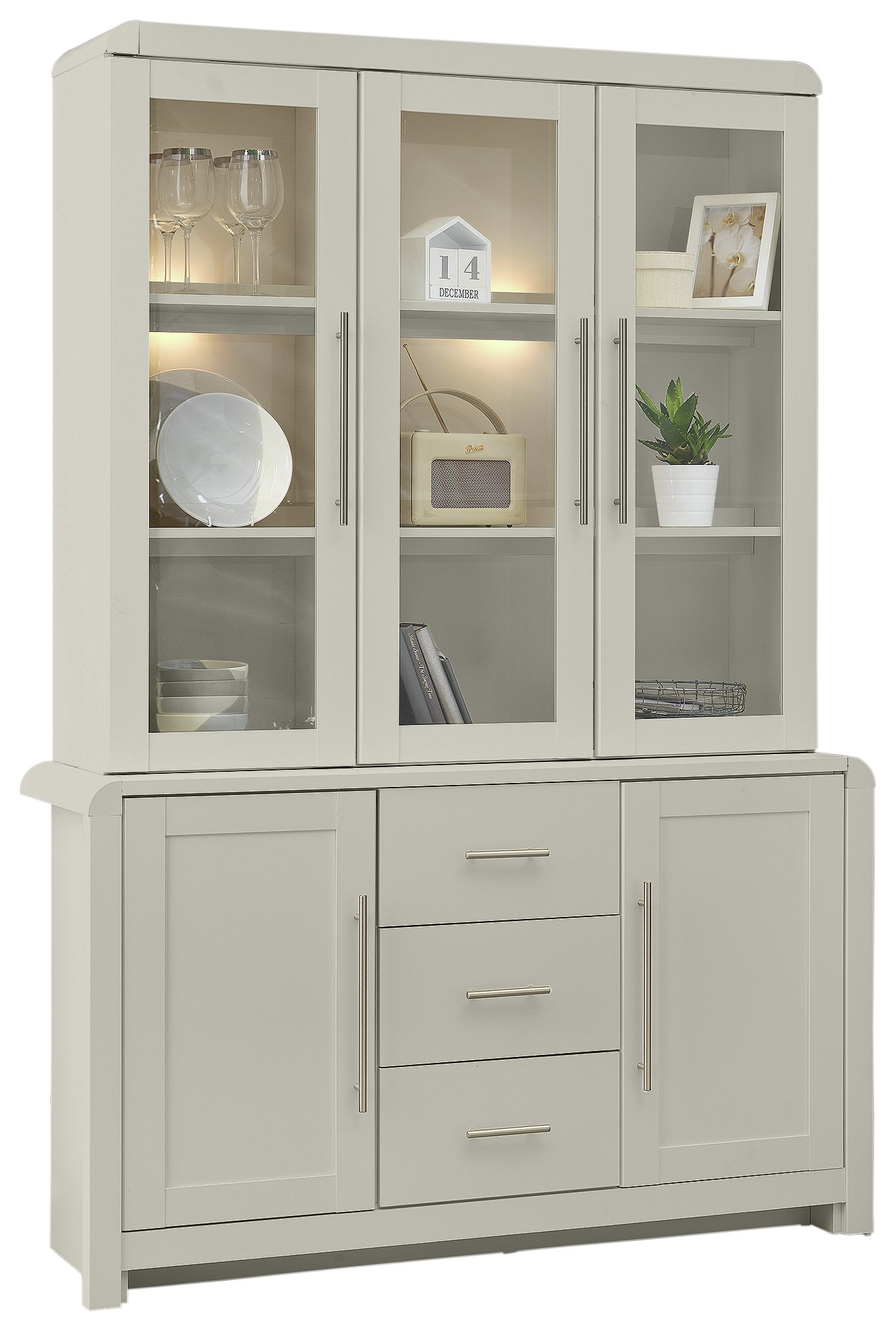 Buy Argos Home Elford 5 Door 3 Drawer Display Cabinet Grey