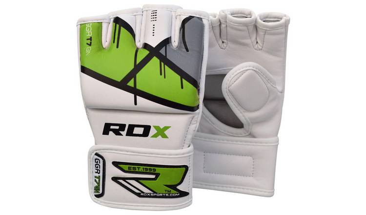 RDX Leather X  Green Grappling Gloves - Medium/Large