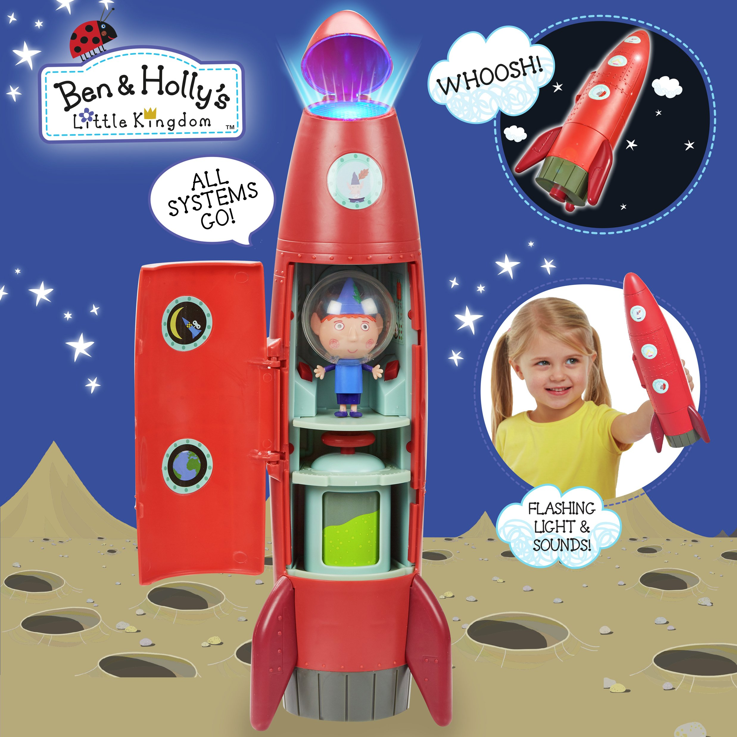 Image of Ben & Holly's Little Kingdom Elf Rocket Playset