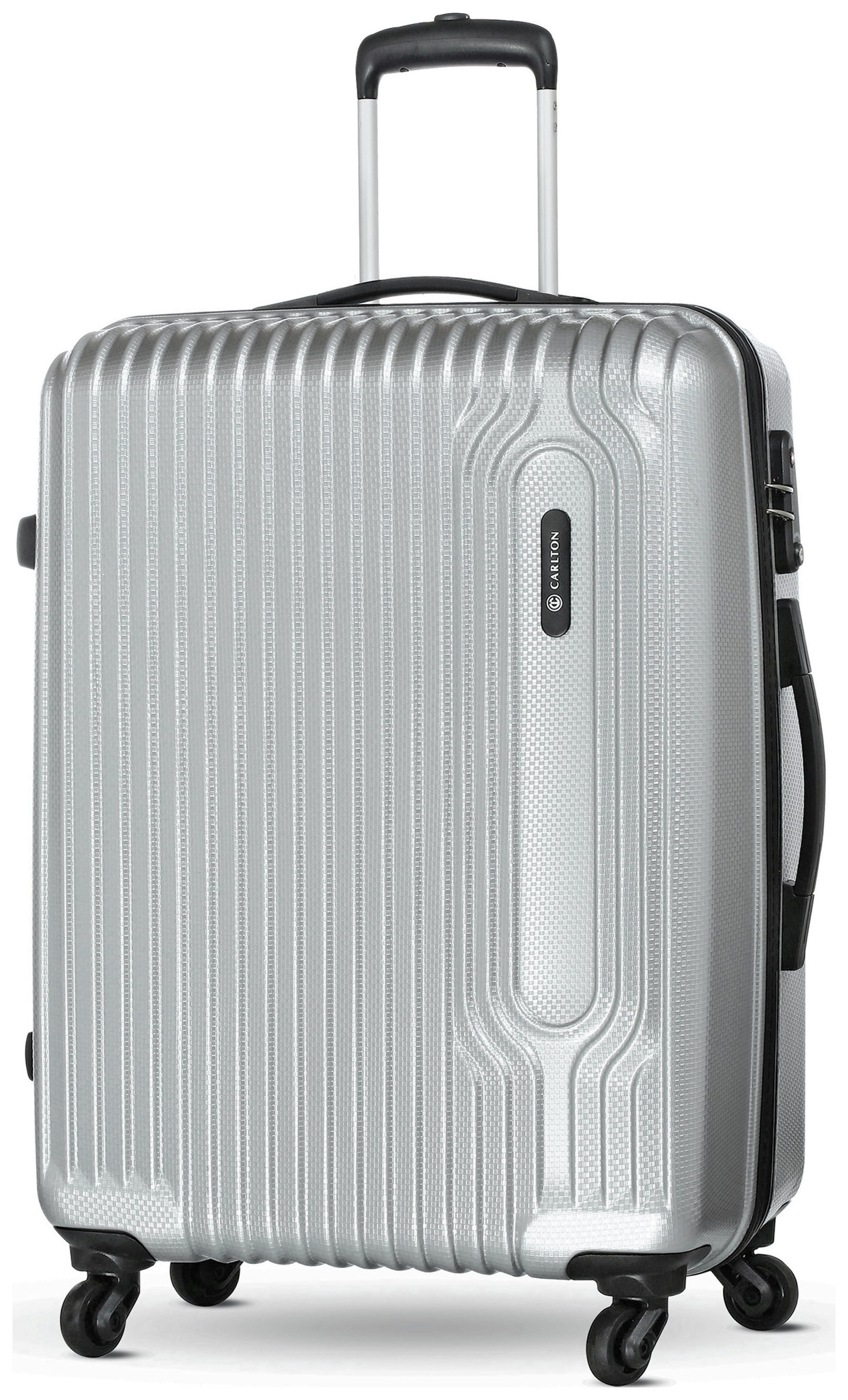 Image of Carlton - Tube Small 4 Wheel Hard Suitcase - Silver