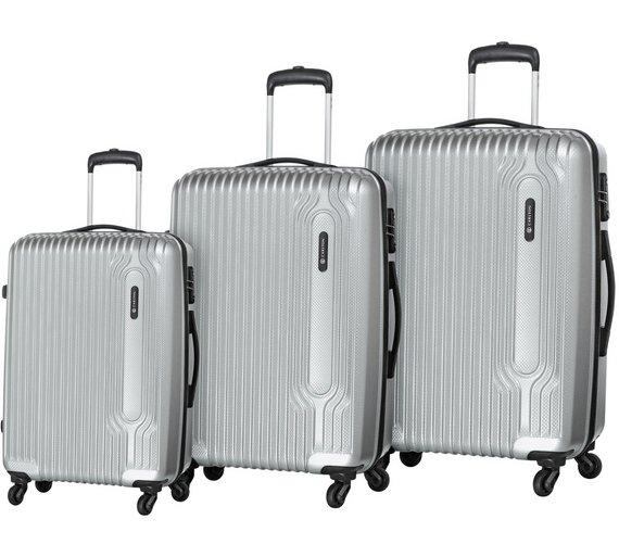 Buy Carlton Tube Small 4 Wheel Hard Suitcase - Silver at Argos.co ...