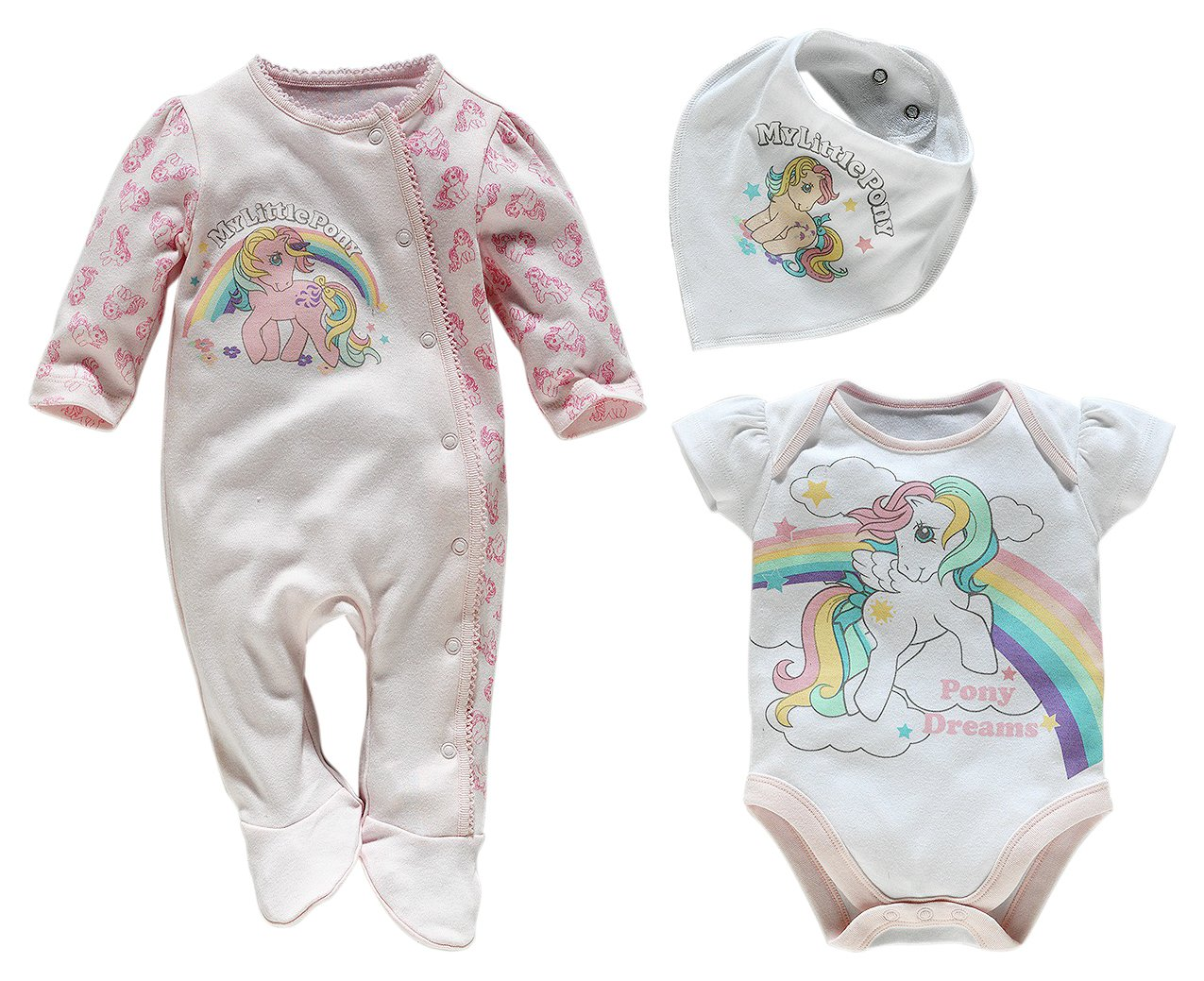 Image of My Little Pony - Pink 3 Piece Baby - Gift Set ? 6?9 Months