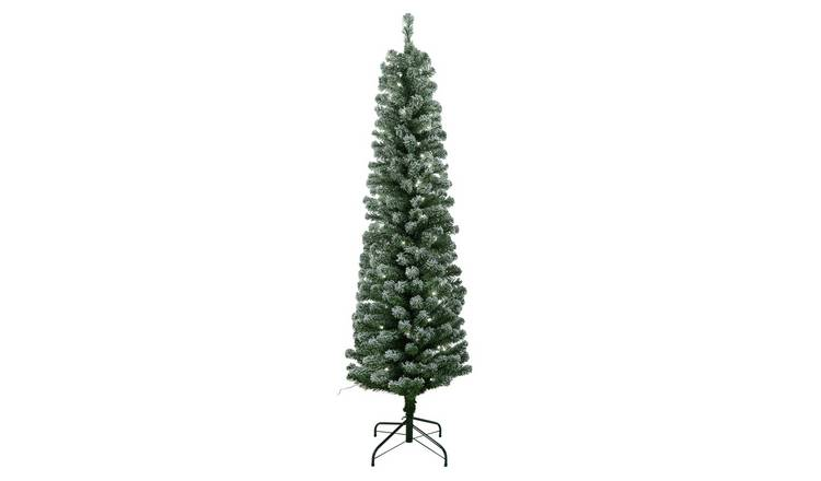 Buy Argos Home 6ft Pre Lit Snow Tipped Christmas Tree Green Artificial Christmas Trees Argos