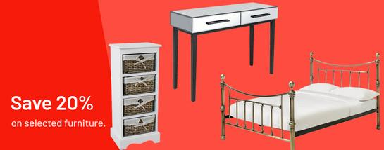 Save 20% on selected furniture.