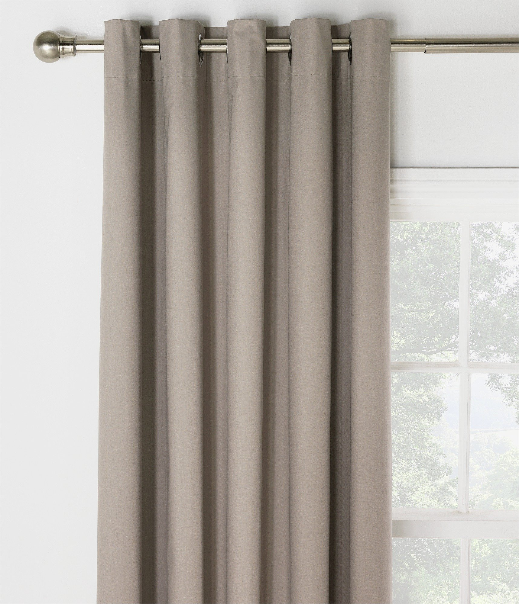 Image of HOME Blackout Thermal Curtains - 229x229cm - Cafe Mocha