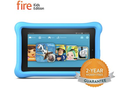 Image of the Amazon Fire 7 Inch 16GB Kids Edition Tablet - Blue