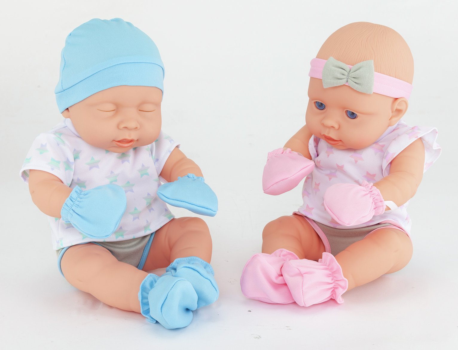 Chad Valley Babies to Love Newborn Baby Twin Dolls