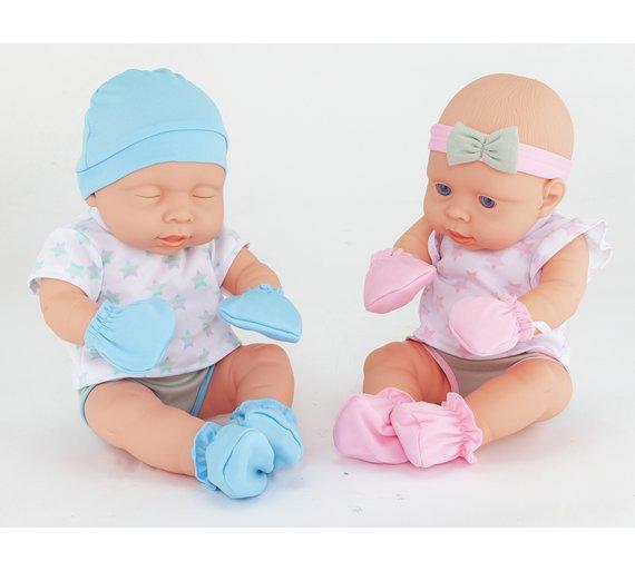 Chad valley babies to love newborn baby twin dolls