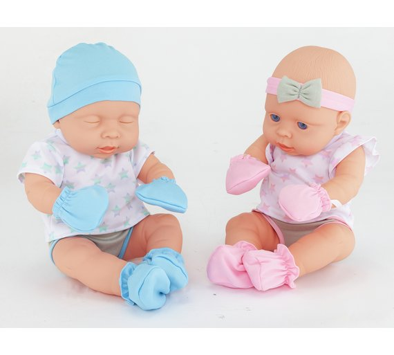 Buy Chad Valley Babies to Love Newborn Baby Twin Dolls at ...