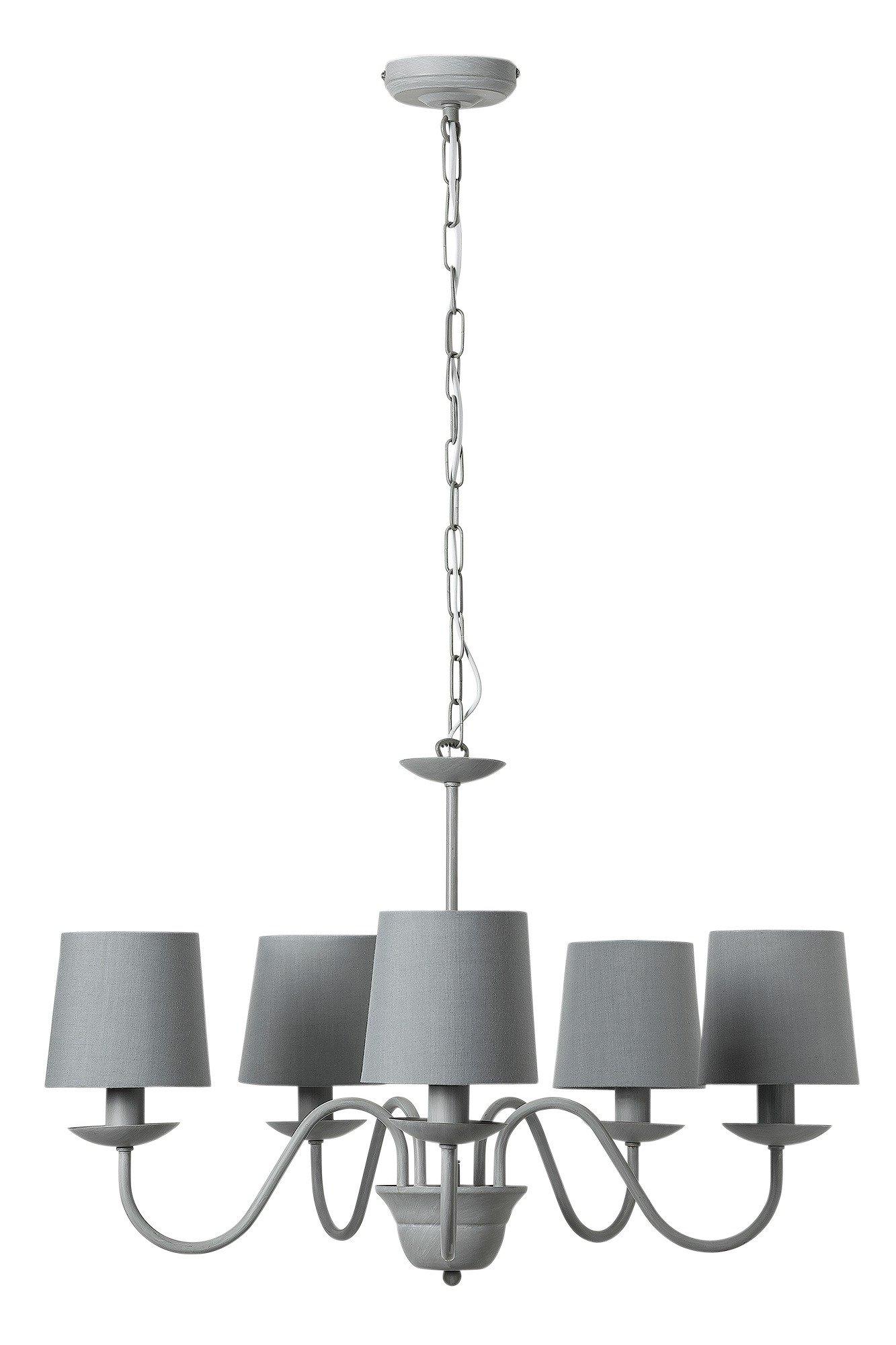 Heart of House - Aster 5 Light Chandelier - Ceiling Light - Grey