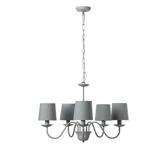 Buy argos home aster 5 light chandelier ceiling light grey argos home aster 5 light chandelier ceiling light grey aloadofball Gallery