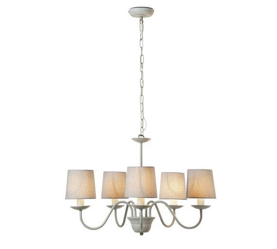 Buy Argos Home Aster 5 Light Chandelier Ceiling Light - Grey ...