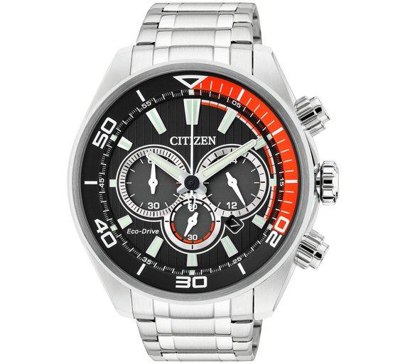 buy citizen men s eco drive orange and black chronograph watch at citizen men s eco drive orange and black chronograph watch532 6679