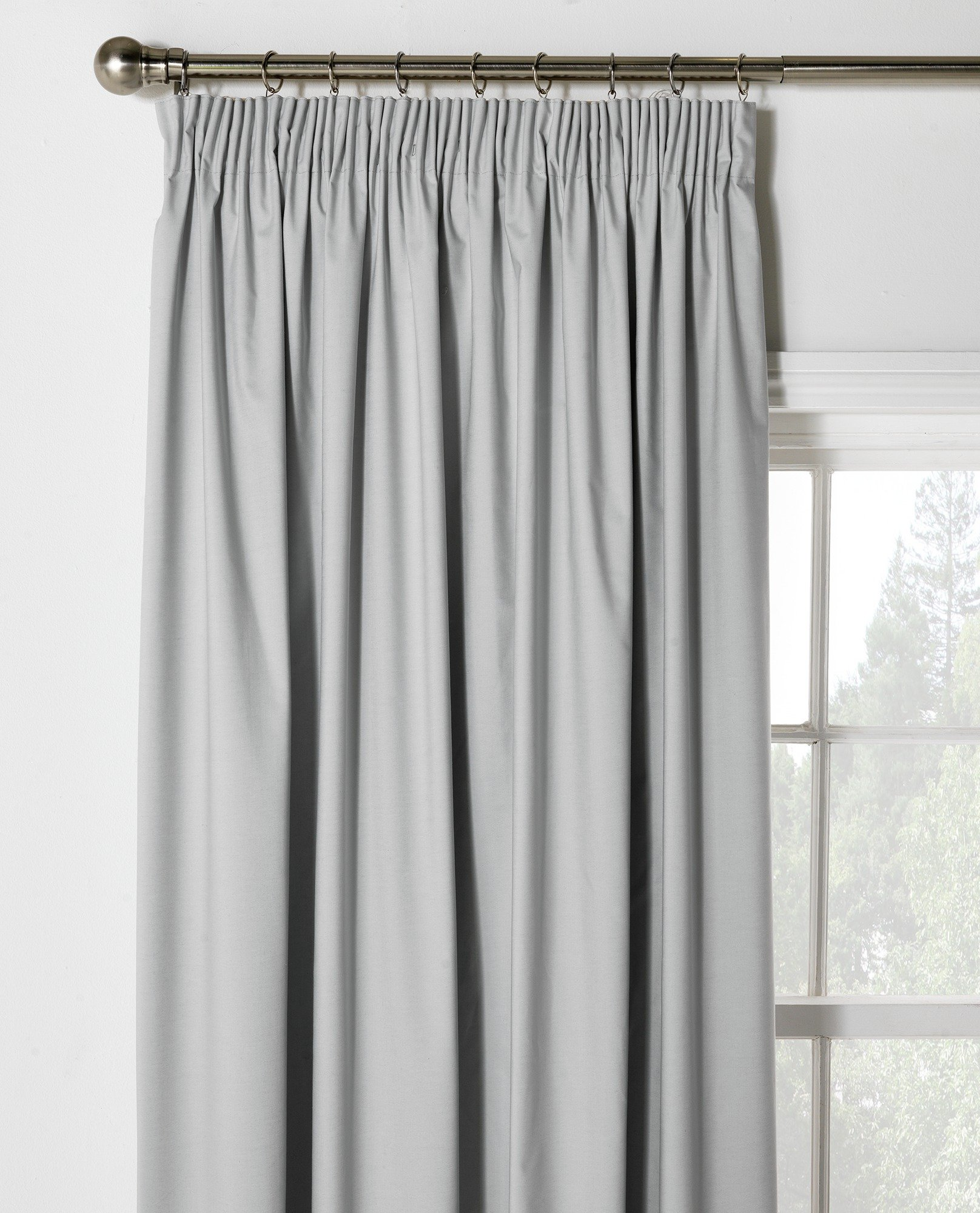 HOME Blackout Thermal Curtains -168x183cm -Dove Grey.