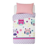 HOME Owls Children's Bedding Set - Single