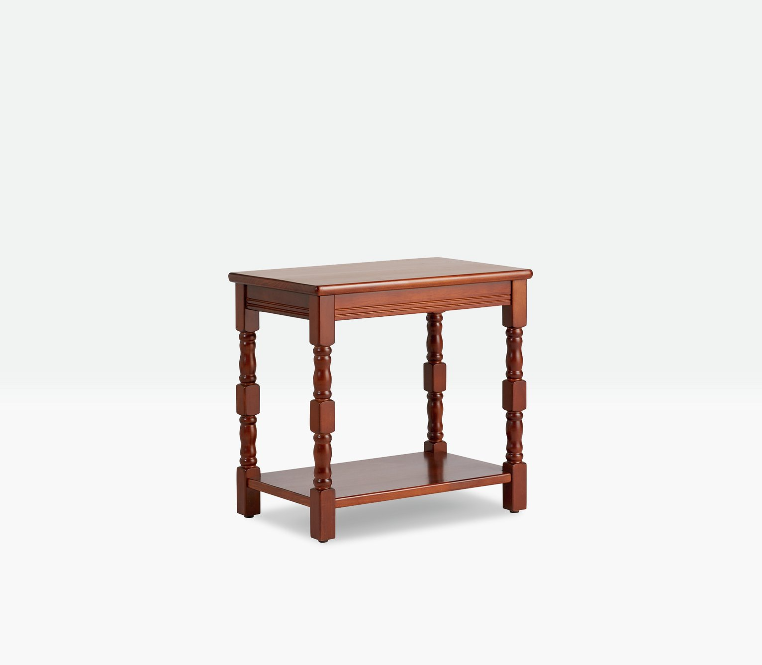 Argos Home Devon Solid Pine End Table - Walnut Effect