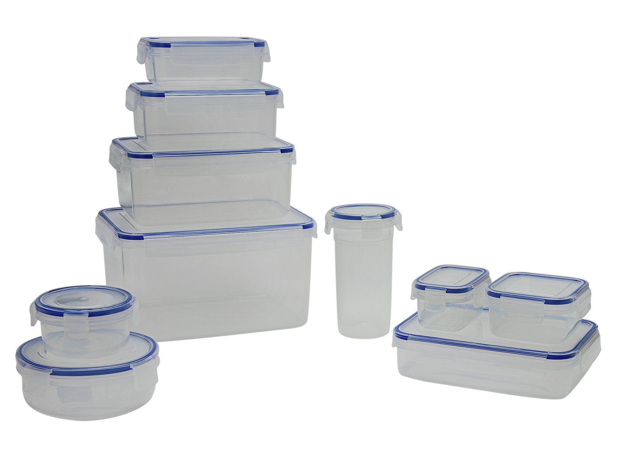 Image of Addis - 10 Piece Plastic Kitchen Storage Set