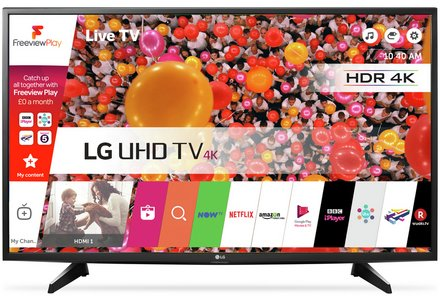 "LG 49"" 4K Ultra HD TV only £399."