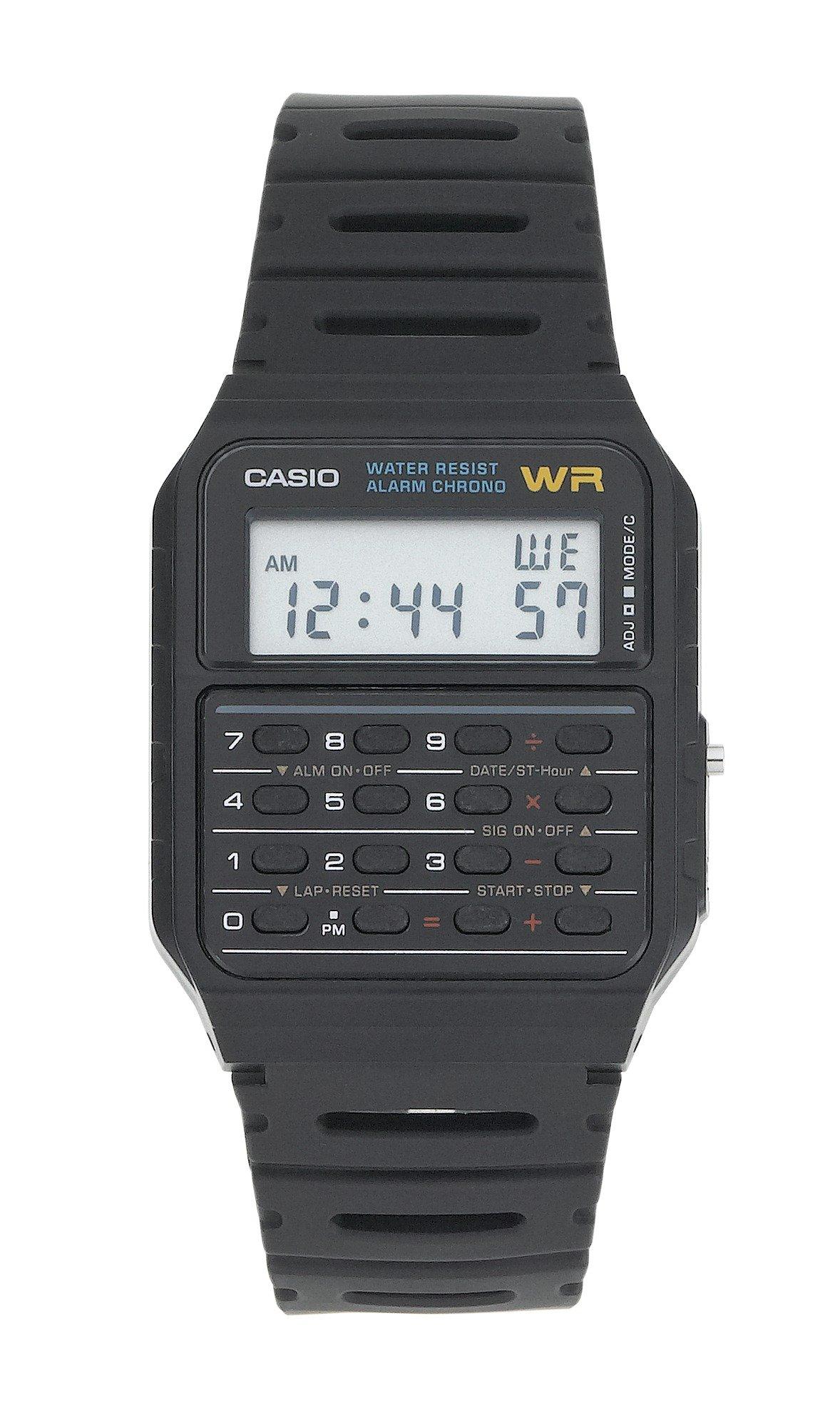 Image of Casio Black Strap Calculator Watch