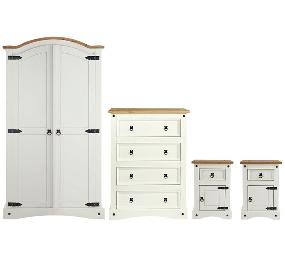 Collection Puerto Rico 4 Piece Bedroom Package White Pine