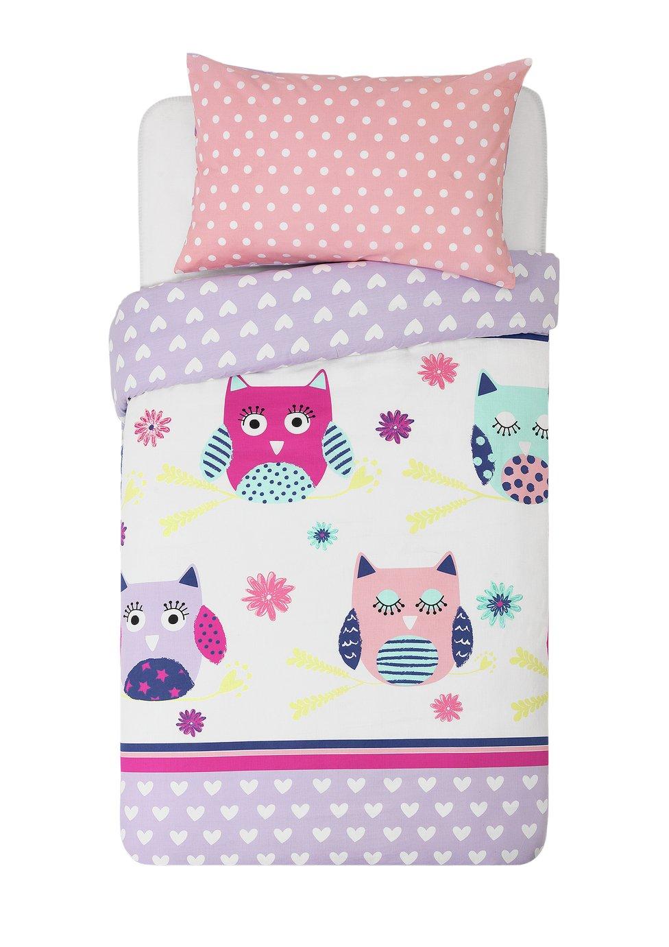 home  owls  bedding set  toddler