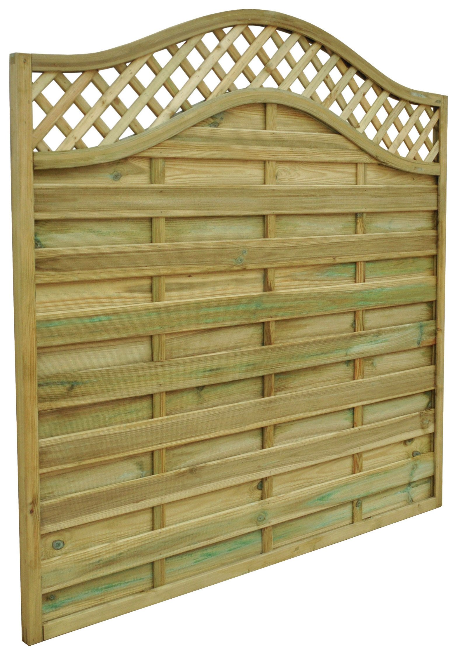 Forest Garden 1.2m Small Prague Fence Panel - Pack of 4. lowest price