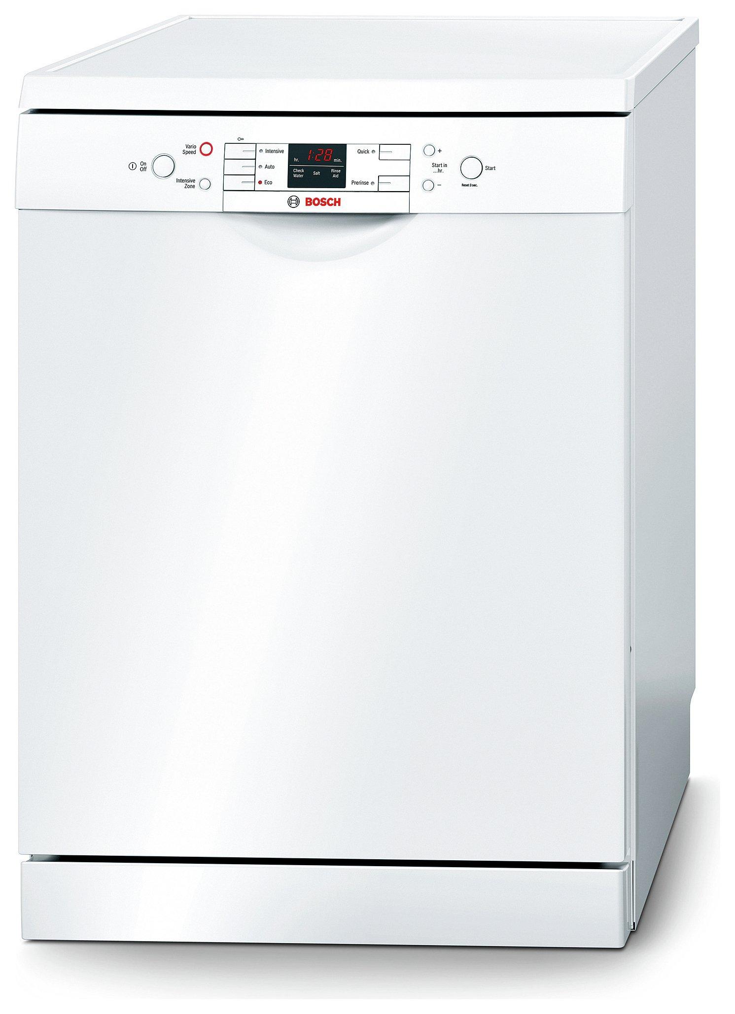 bosch sms58m42gb full size dishwasher white