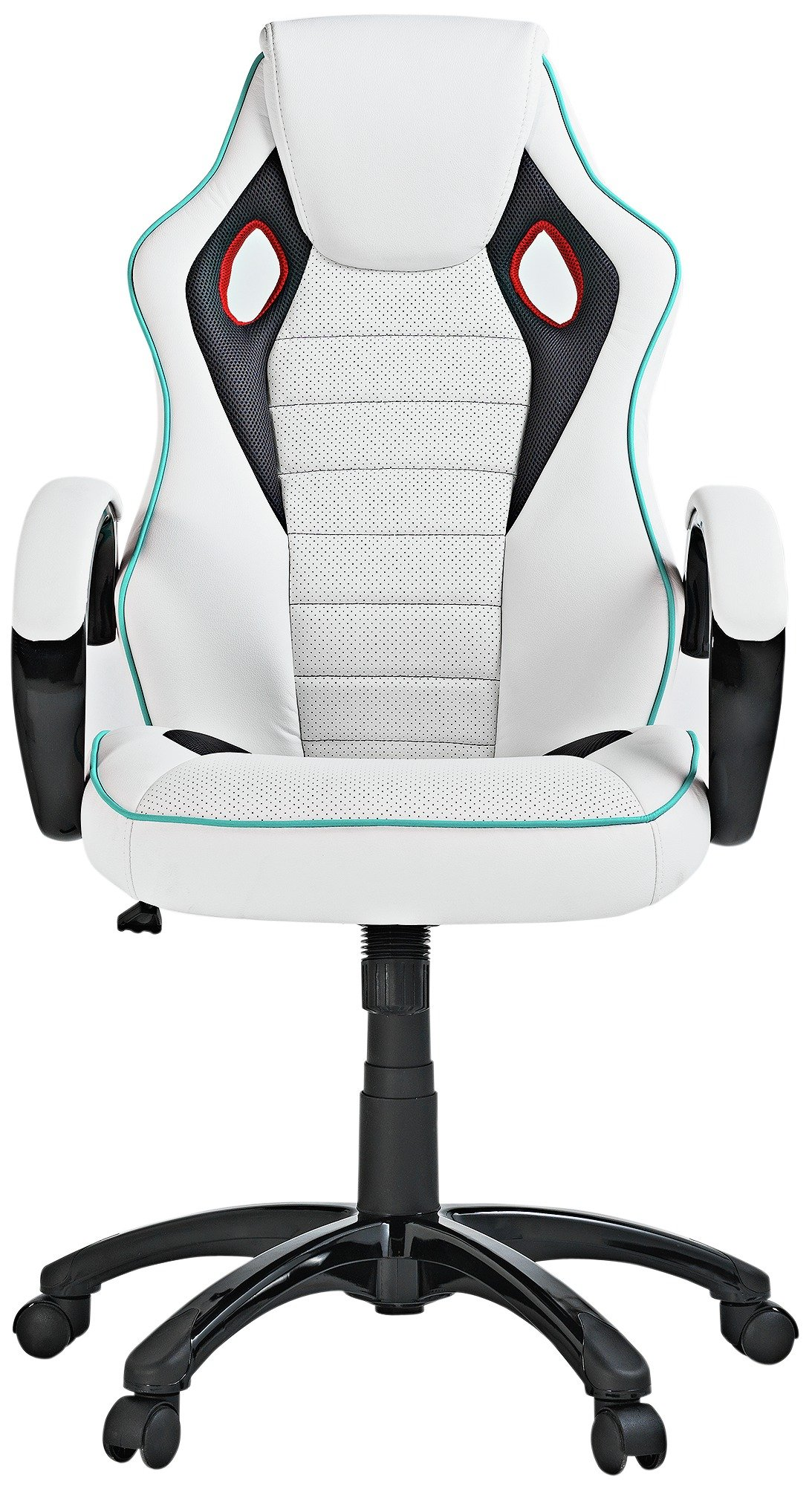 buy x-rocker height adjustable office gaming chair - white at