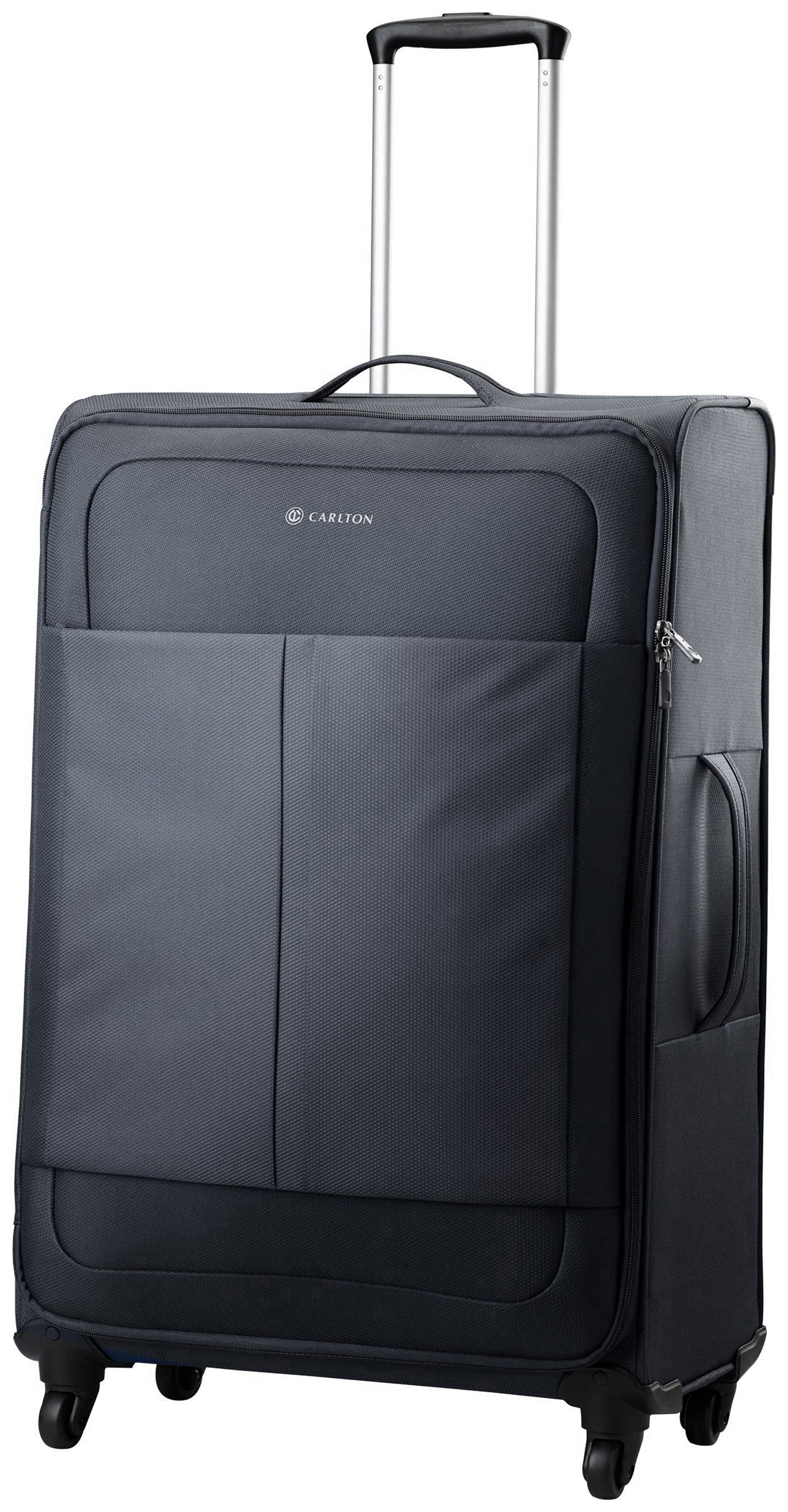 Image of Carlton - Ultralite Medium 4 Wheel Soft Suitcase - Black