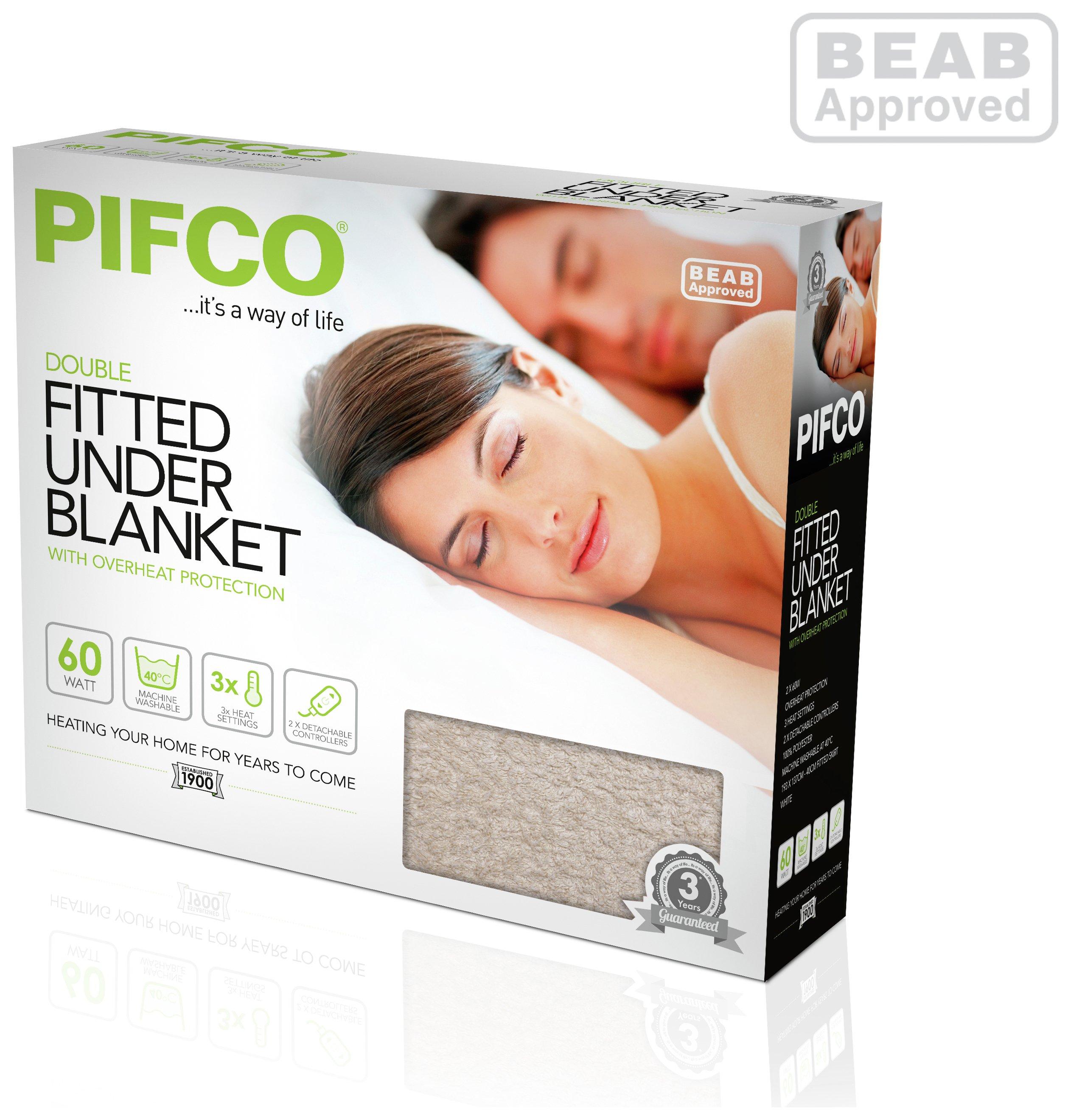 pifco fitted electric blanket kingsize. Black Bedroom Furniture Sets. Home Design Ideas