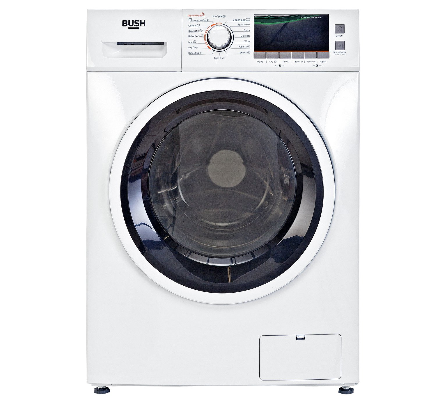 Bush WDNSX86W 8KG / 6KG 1400 SpinWasher Dryer - White by Bush 536/9849