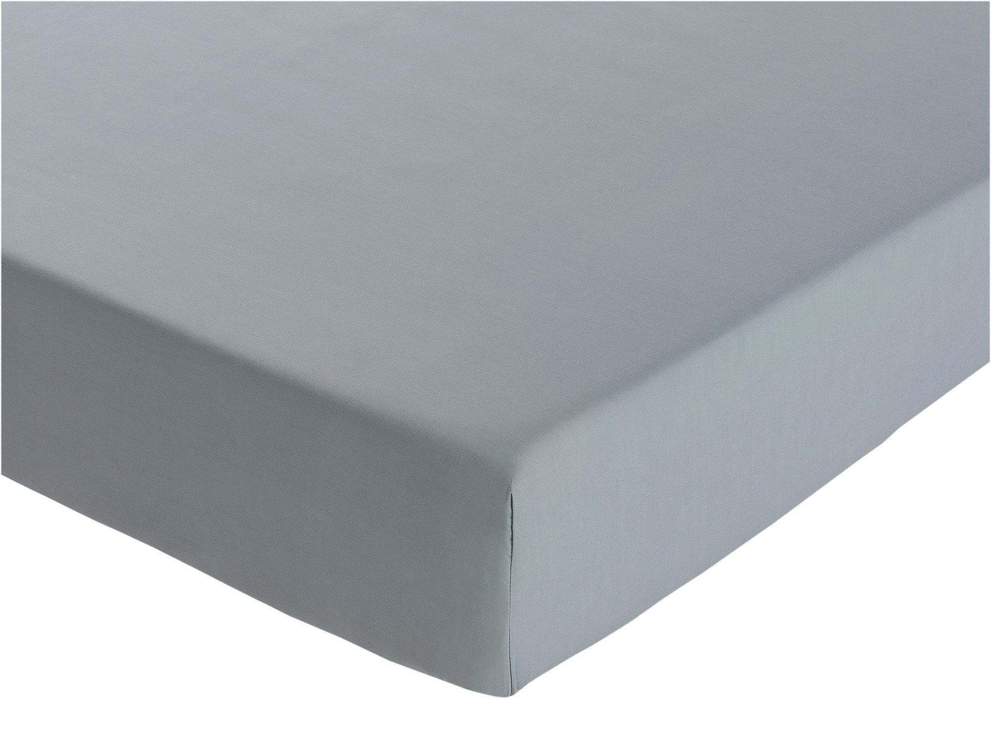 heart of house  pale grey egyptian cotton  fitted  sheetdouble