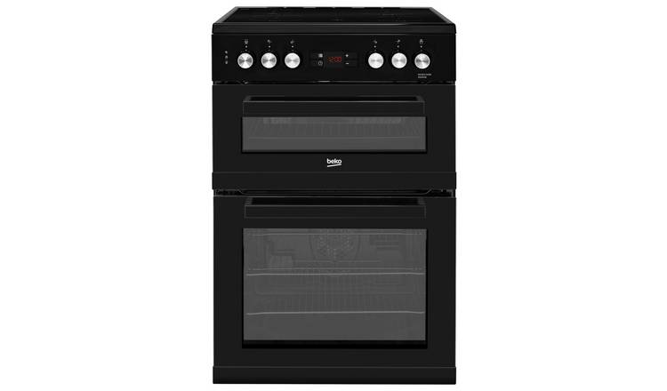 Beko KDC653K 60cm Double Oven Electric Cooker - Black