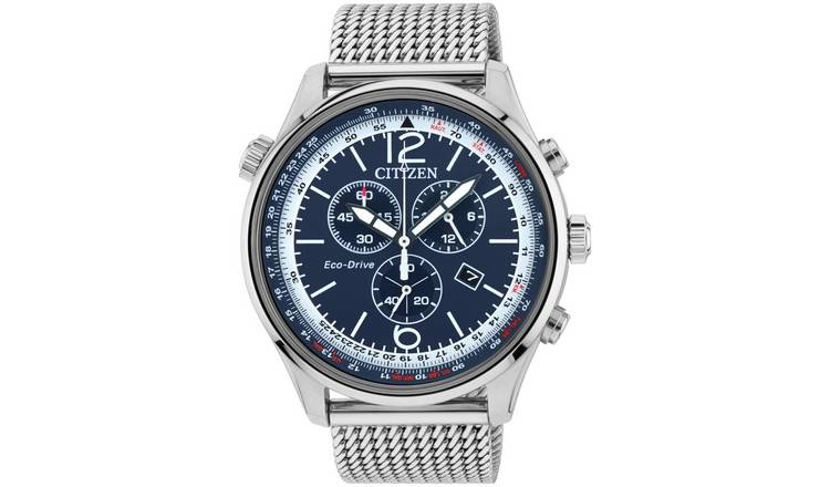 Citizen Eco-Drive Men's Chronograph Stainless Steel Watch